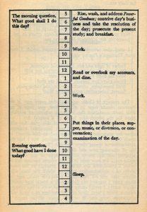 Ben Franklin Time Management