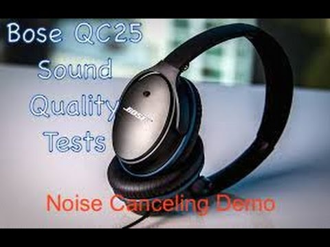 Bose QC25 Headphones – Noise Canceling Demonstration vs Other Headphones