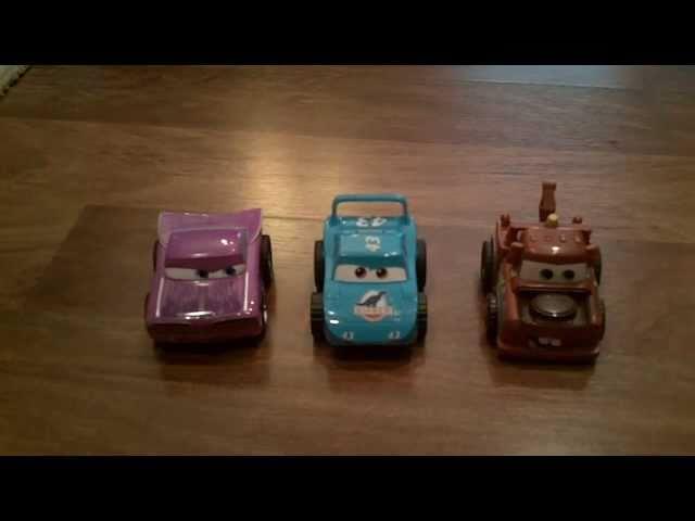 Cars Disney Turbo Pullback Cars Racers 3-pack