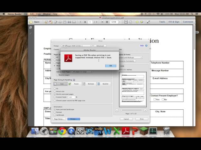 How to Modify Adobe Reader PDFs on MAC using Preview Application