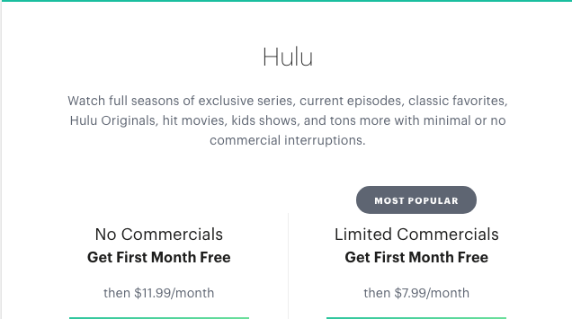 Hulu basic