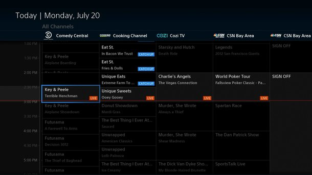 PlayStation Vue UI