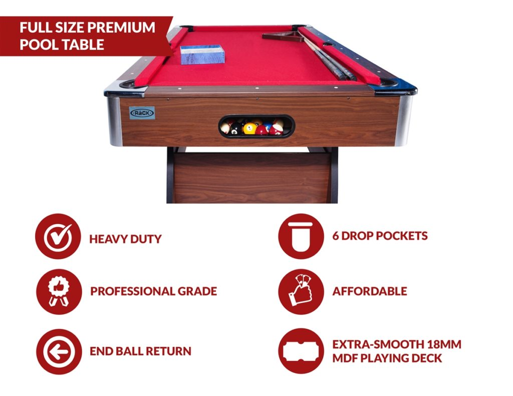 Rack Draco pool table